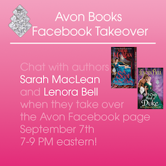 Sarah MacLean and Lenora Bell Facebook Takeover!